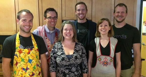 Team Verdis at the Pancake Party.