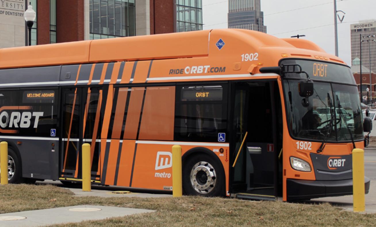 ORBT bus in Omaha, Nebraska